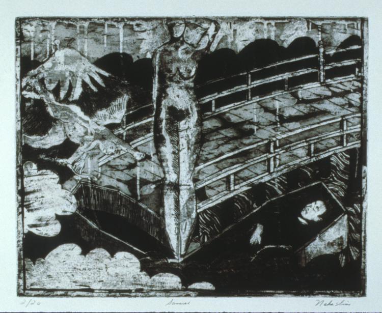 0020 Death of a Samurai, intaglio