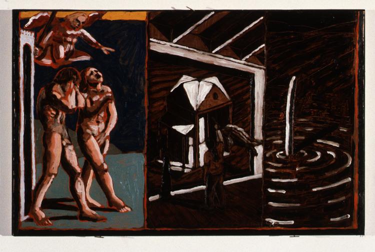 Self Portrait w:Sanctuary & Expulsion #2 1990